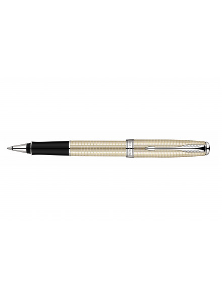 Ручка-роллер Parker Sonnet T535 Ciselle Decal Silver CT F