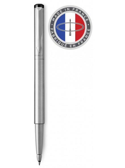 Ручка роллер Parker Vector Steel T03 (2025444) Stainless Steel CT M синие чернила подар.кор.