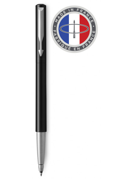 Ручка роллер Parker Vector Standard T01 (2025441) Black CT M синие чернила подар.кор.