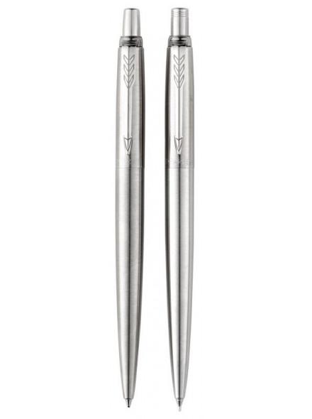 Набор Parker Jotter Core KB61 (2020376) Stainless Steel CT черные подар.кор.ручка шариковая/карандаш механический 0.5