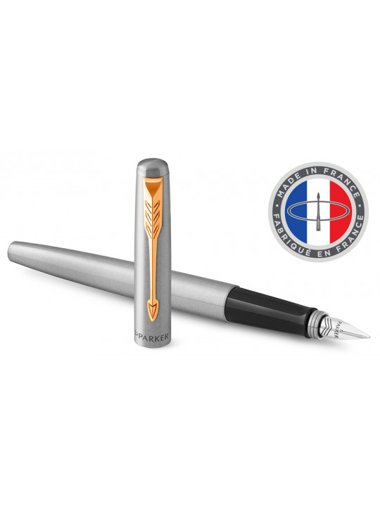 Ручка перьевая Parker Jotter Core F691 (2030948) Stainless Steel GT M перо сталь нержавеющая подар.кор.