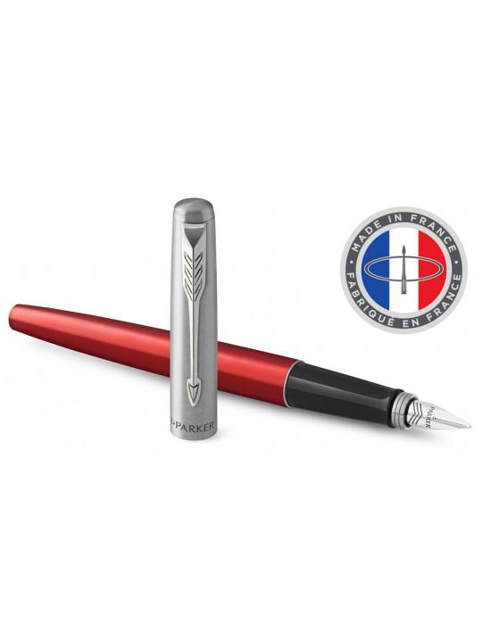 Ручка перьевая Parker Jotter Core F63 (2030949) Kensington Red CT M перо сталь нержавеющая подар.кор.