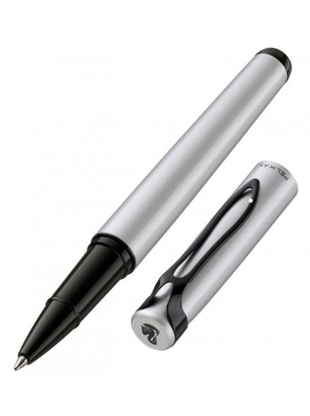 Ручка роллер Pelikan Stola 3 (PL929844) серебристый/черный черные чернила подар.кор.