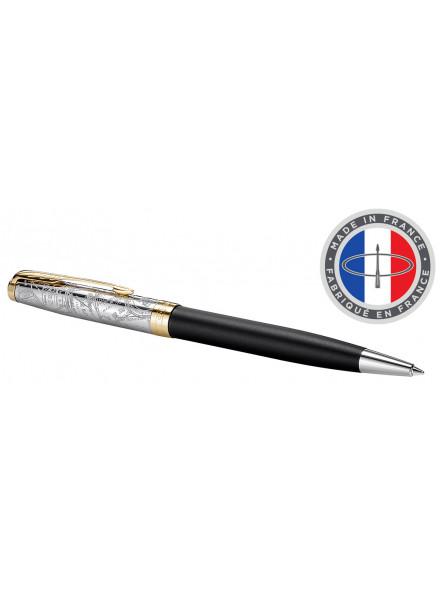 Ручка шариковая Parker Sonnet SE18 K541 (2054837) Matte Black GT M черные чернила подар.кор.