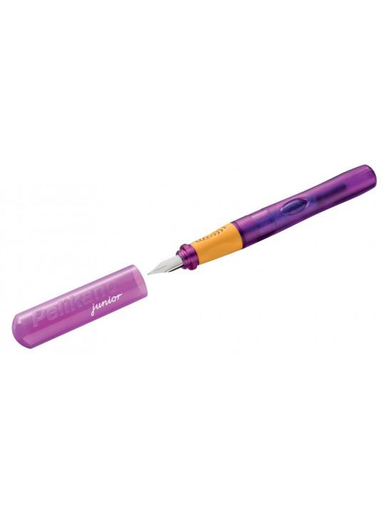 Ручка перьев. Pelikan School Pelikano Junior (PL809122) пурпурный A сталь нержавеющая для правшей в компл.:картридж 1шт с синими чернилами карт.уп.