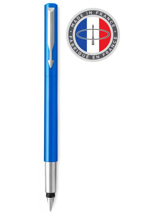 Ручка перьев. Parker Vector Standard F01 (2025446) синий F в компл.:картридж 1шт с синими чернилами подар.кор.