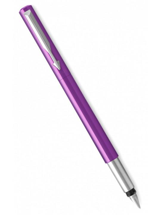 Ручка перьев. Parker Vector Standard F01 (2025593) фиолетовый F в компл.:картридж 1шт с синими чернилами подар.кор.