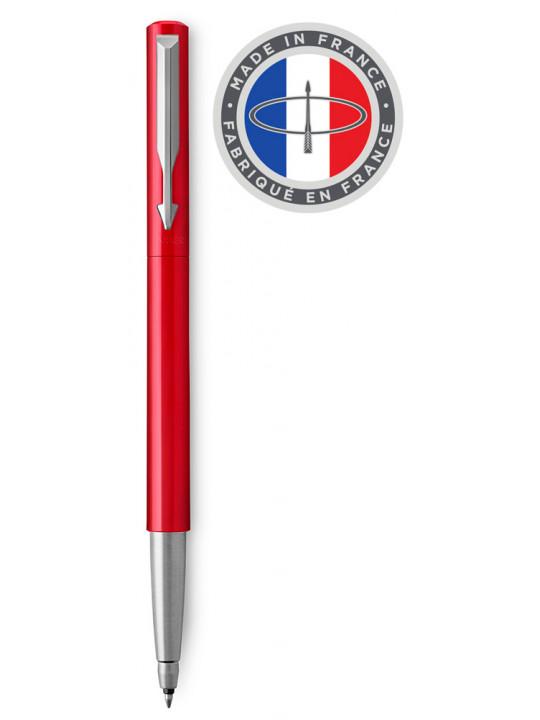 Ручка роллер Parker Vector Standard T01 (2025452) Red CT M синие чернила подар.кор.