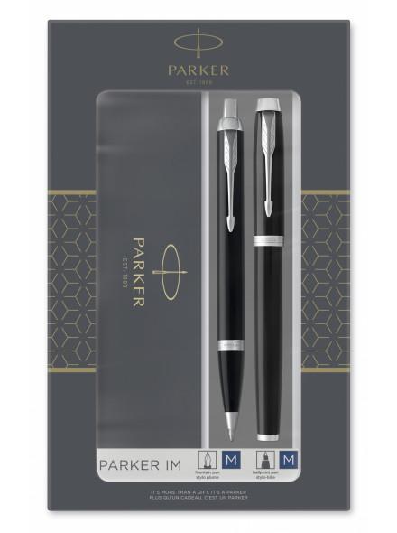 Набор Parker IM Core FK221 (2093215) Black CT ручка перьевая, ручка шариковая подар.кор.