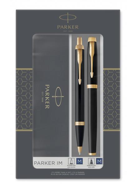 Набор Parker IM Core FK221 (2093216) Black GT подар.кор.ручка перьевая, ручка шариковая