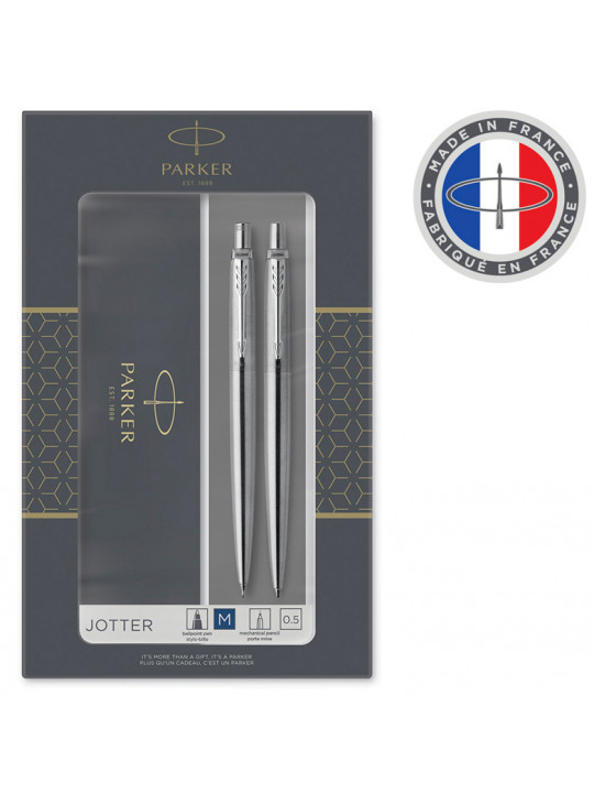 Набор Parker Jotter Core KB61 (2093256) Stainless Steel CT подар.кор.