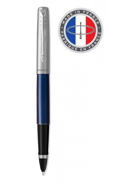 Ручка роллер Parker Jotter Core T63 (2089228) Royal Blue синий/серебристый M черные чернила подар.кор.