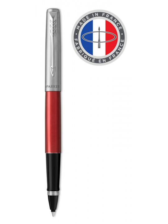 Ручка роллер Parker Jotter Core T63 (2089229) Kensington Red CT красный/серебристый M черные чернила подар.кор.