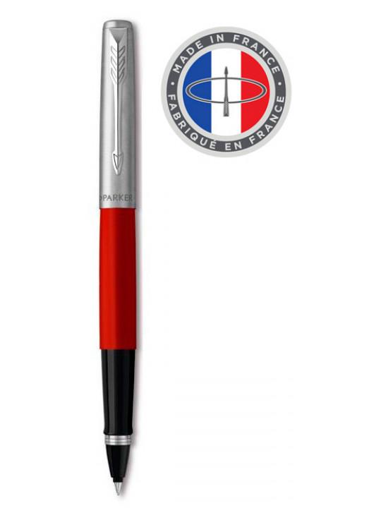 Ручка роллер Parker Jotter Original T60 (R2096909) красный/серебристый черные чернила подар.кор.