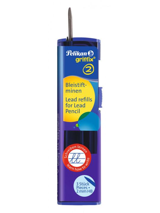 Грифели Pelikan School Griffix (PL960476) 2мм для механических карандашей (3шт)