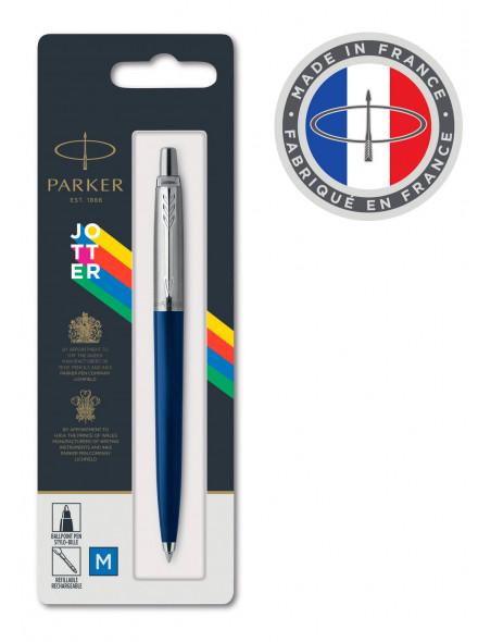 Ручка шариковая Parker Jotter Color (2123427) синий M синие чернила блистер