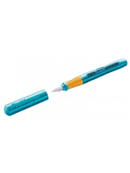 Ручка перьев. Pelikan School Pelikano Junior (PL924886) бирюзовый A сталь нержавеющая для правшей в компл.:картридж 1шт с синими чернилами карт.уп.