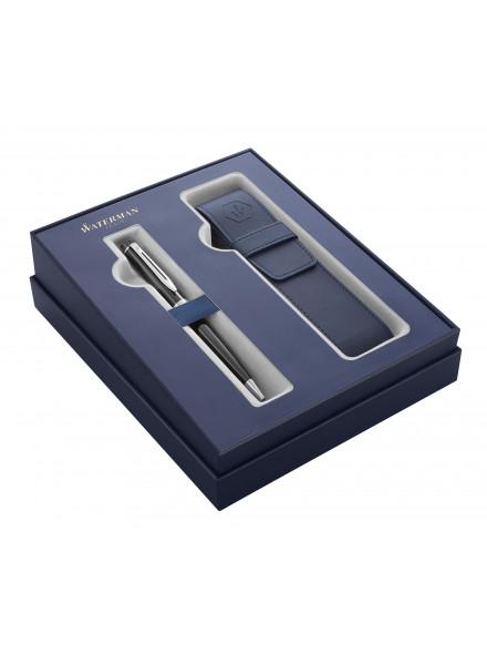 Набор Waterman Expert GIFT 20 (2122198) Black CT ручка шариковая M синие чернила в компл.:чехол для ручки подар.кор.
