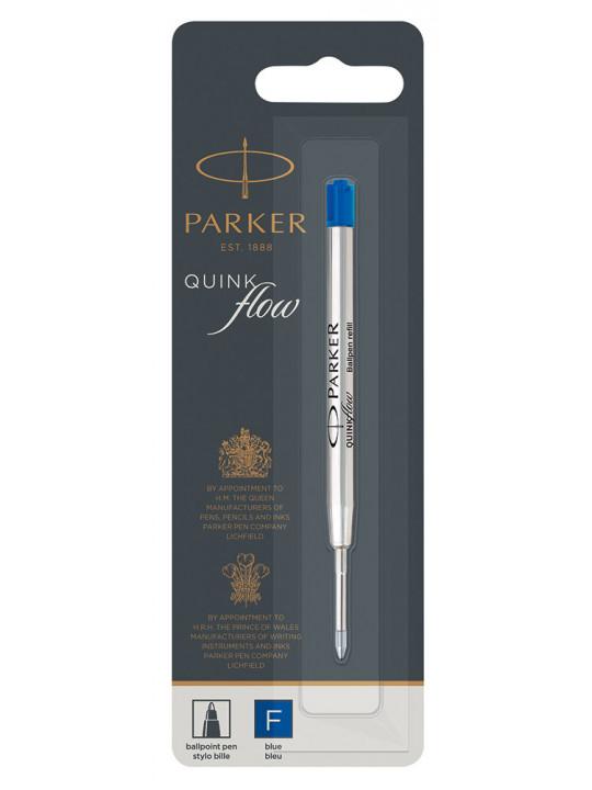 Стержень шариковый Parker QuinkFlow Z08 (R1950368) F 0.8мм синие чернила блистер