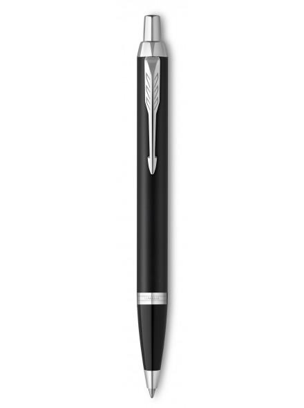 Ручка шариковая Parker IM Essential K319 (2143632) Matte Black CT M синие чернила подар.кор.
