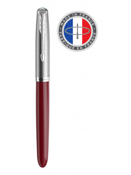 Ручка перьевая Parker 51 Core (2123496) Burgundy F перо сталь нержавеющая подар.кор.