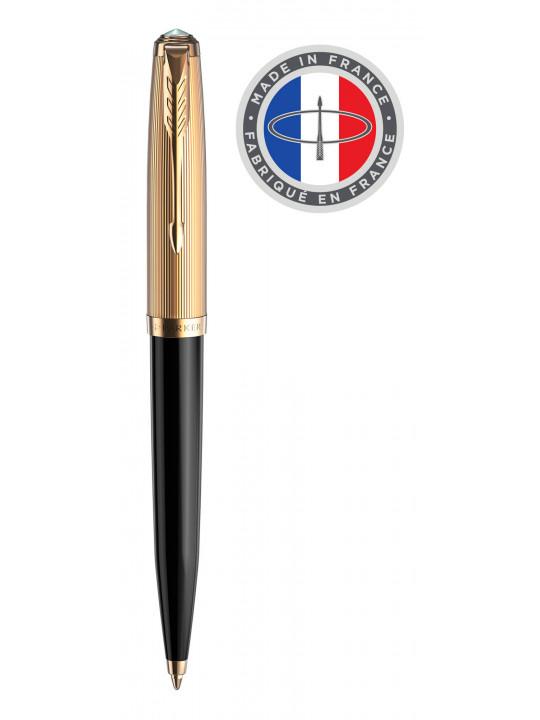 Ручка шариковая Parker 51 Premium (2123513) Black GT M черные чернила подар.кор.