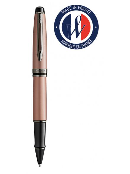 Ручка роллер Waterman Expert DeLuxe (2119264) Metallic Rose Gold RT F черные чернила подар.кор.