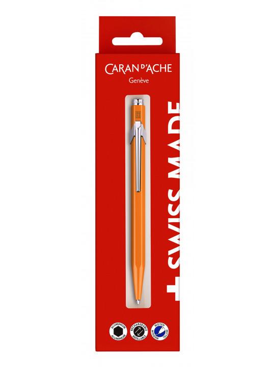 Ручка шариковая Carandache Office 849 Fluo (849.630) оранжевый M синие чернила блистер