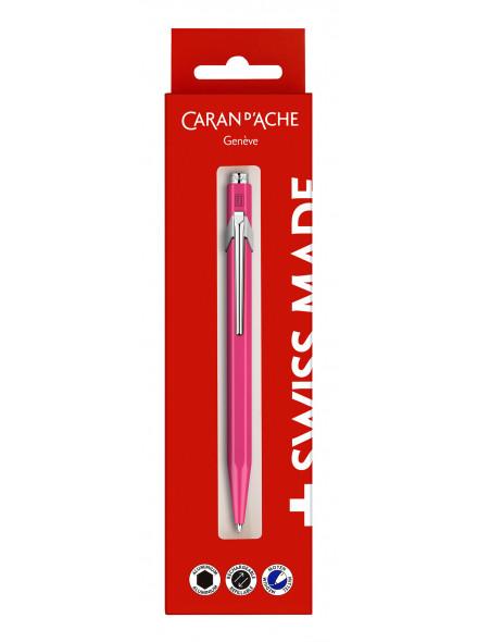 Ручка шариковая Carandache Office 849 Fluo (849.690) фиолетовый M синие чернила блистер