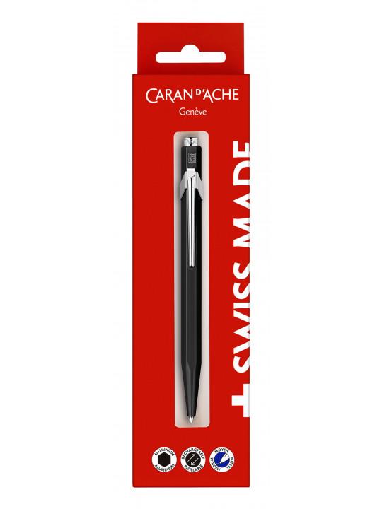 Ручка шариковая Carandache Office 849 Classic (849.609) черный M синие чернила блистер