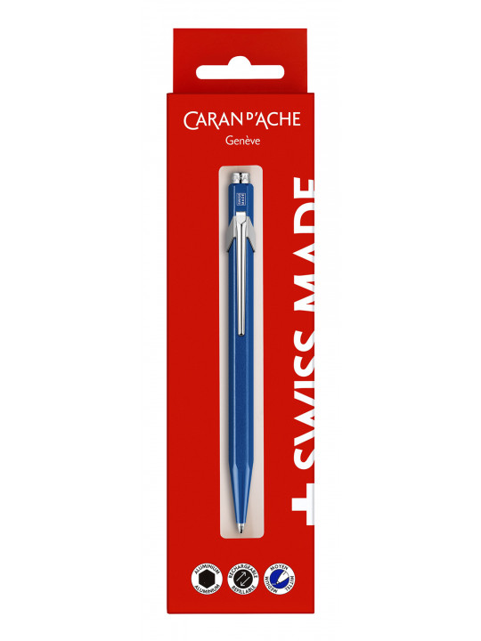 Ручка шариковая Carandache Office 849 Metal-X (849.740) синий M синие чернила блистер