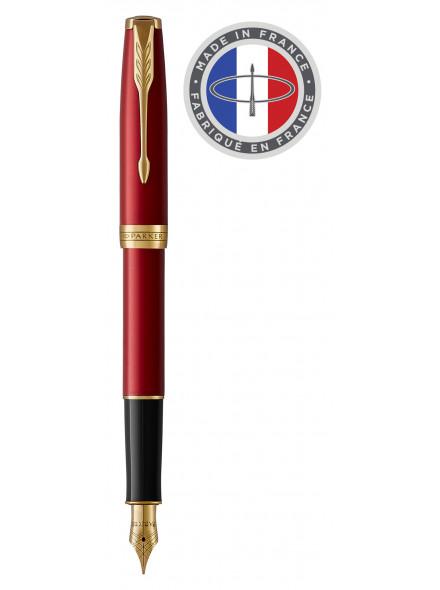 Ручка перьевая Parker Sonnet Core F539 (1931473) LaqRed GT F перо сталь нержавеющая/позолота подар.кор.
