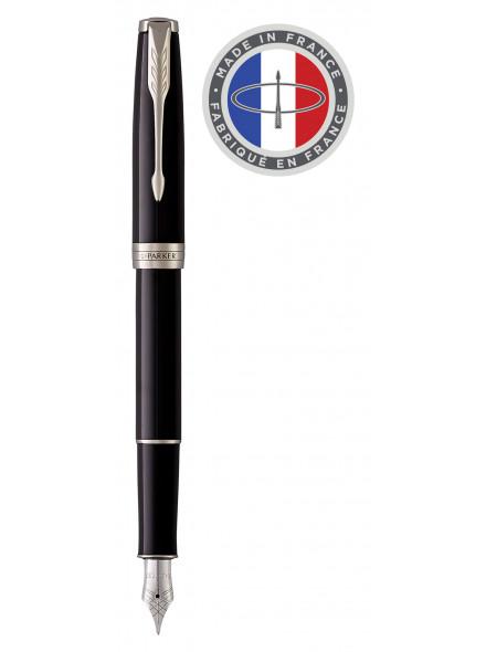 Ручка перьевая Parker Sonnet Core F539 (1931499) LaqBlack СT F перо сталь нержавеющая подар.кор.