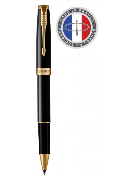 Ручка роллер Parker Sonnet Core T539 (1931496) LaqBlack GT F черные чернила подар.кор.