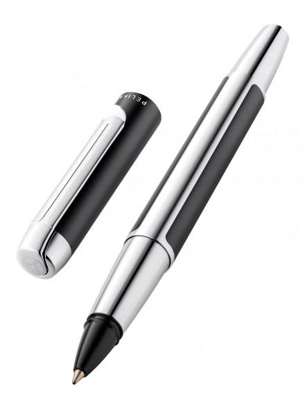 Ручка роллерн. Pelikan Elegance Pura R40 (PL817448) антрацитовый/серебристый карт.уп.