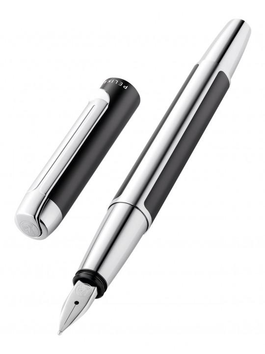 Ручка перьевая Pelikan Elegance Pura P40 (PL817127) антрацитовый/серебристый F перо сталь нержавеющая карт.уп.