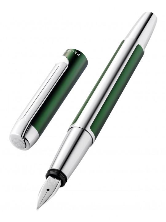 Ручка перьевая Pelikan Elegance Pura P40 (PL817493) зеленый/серебристый F перо сталь нержавеющая карт.уп.