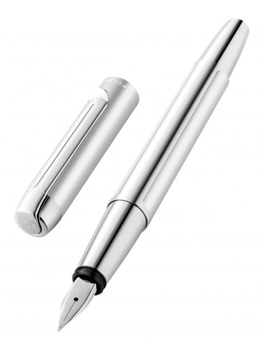 Ручка перьевая Pelikan Elegance Pura P40 (PL951954) серебристый F перо сталь нержавеющая карт.уп.