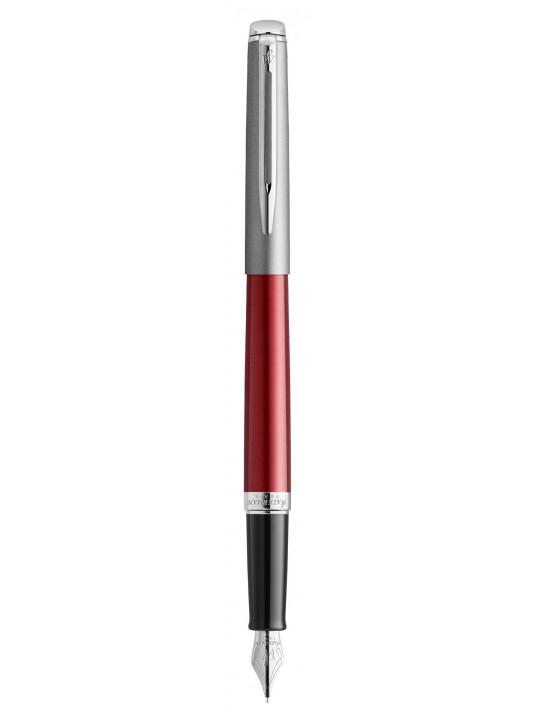 Ручка перьевая Waterman Hemisphere (2146623) Matte SS Red CT F перо сталь нержавеющая подар.кор.