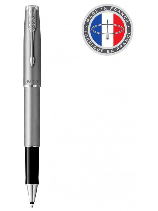 Ручка роллер Parker Sonnet T546 (2146875) Stainless Steel CT F черные чернила подар.кор.