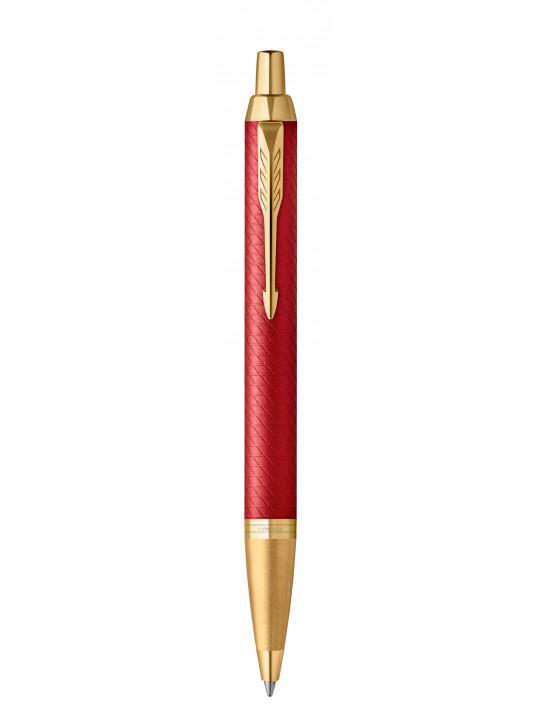 Ручка шариковая Parker IM Premium K318 (2143644) Red GT M синие чернила подар.кор.