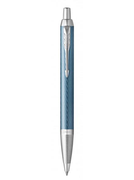 Ручка шариковая Parker IM Premium K318 (2143645) Blue Grey CT M синие чернила подар.кор.