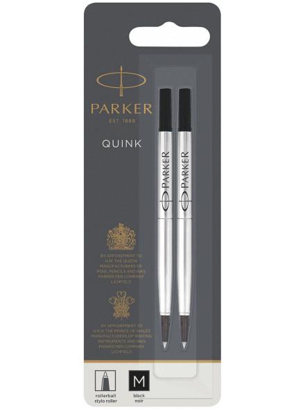 Стержень роллер Parker Quink RB Z01 (1950325) M 0.7мм черные чернила блистер (2шт)