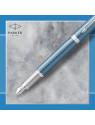Ручка перьев. Parker IM Premium F318 (2143651) Blue Grey CT F сталь нержавеющая в компл.:картридж 1шт с синими чернилами подар.кор.конвертор/картриджи