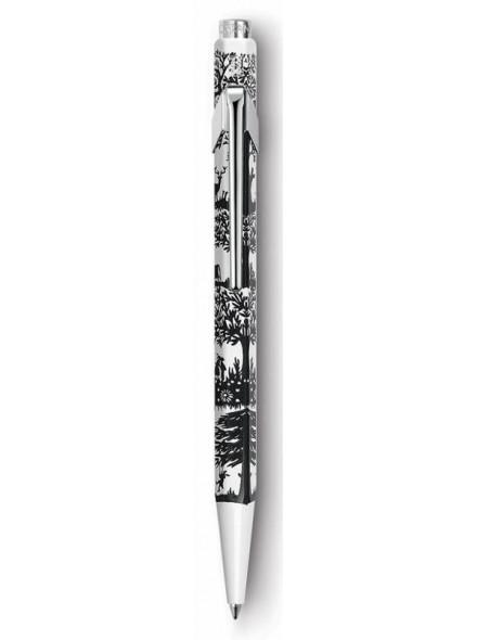 Ручка шариковая Carandache Office Essentially Swiss (849.754) Cut up Paper M синие чернила подар.кор.