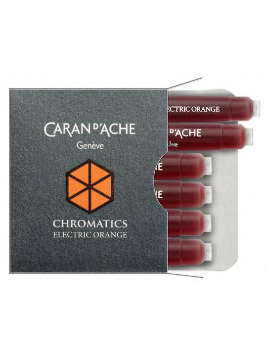 Картридж Carandache Chromatics (8021.052) Electric orange чернила для ручек перьевых (6шт)