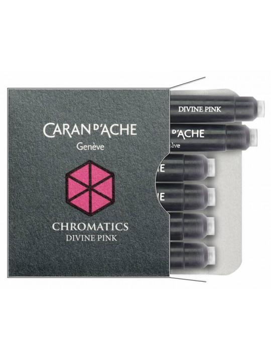 Картридж Carandache Chromatics (8021.080) Divine pink чернила для ручек перьевых (6шт)