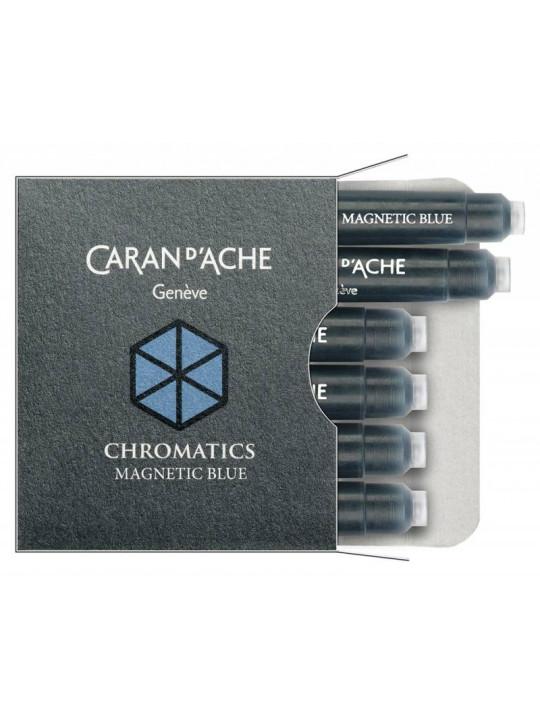 Картридж Carandache Chromatics (8021.149) Magnetic blue чернила для ручек перьевых (6шт)
