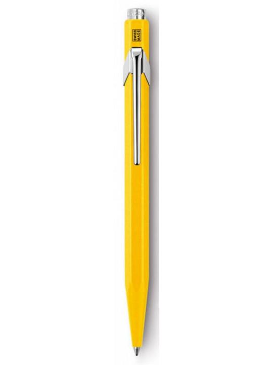 Ручка шариковая Carandache Office CLASSIC (849.010_MTLGB) желтый M синие чернила подар.кор.
