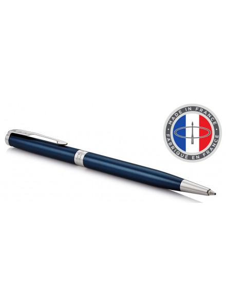 Ручка шариковая Parker Sonnet Core K439 Slim (1945365) LaqBlue CT M черные чернила подар.кор.